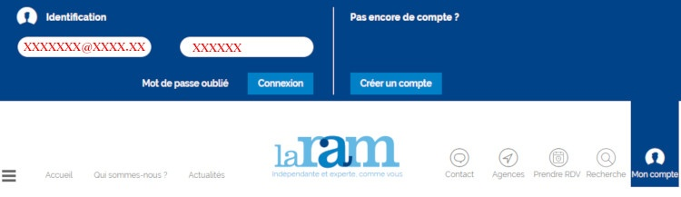 Se connecter La Ram mon compte